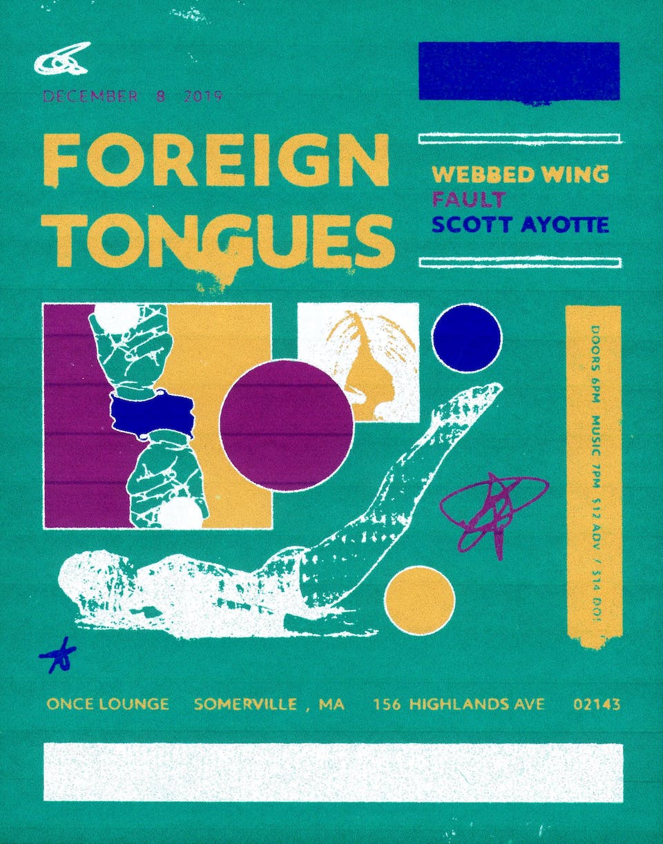 Foreign Tongues, Webbed Wing (Ex-Superheaven), FAULT + Born Without Bones
