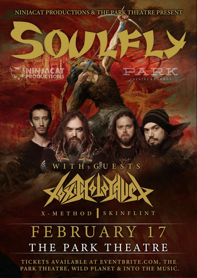 Soulfly and Toxic Holocaust at the Park Theatre