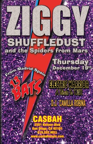 Ziggy Shuffledust and the Spiders from Mars, Electric Warrior, 13 Bats