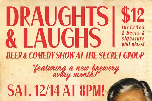 DRAUGHTS & LAUGHS: BEER & COMEDY SHOW! Featuring True Anomaly