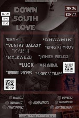 DOWN SOUTH LOVE: Hip Hop Showcase