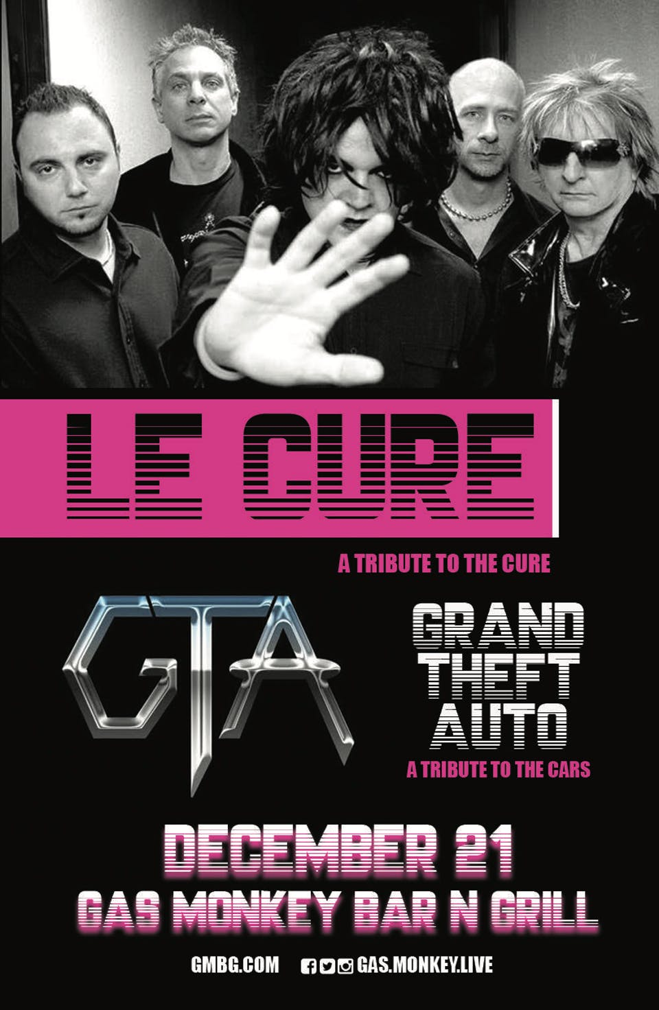 Le Cure(A Tribute to The Cure) & Grand Theft Auto(A Tribute to The Cars)