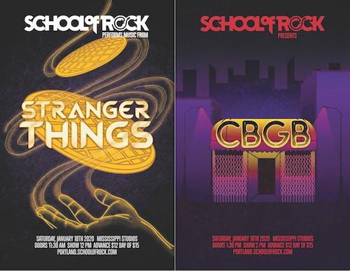 School of Rock Showcase: Stranger Things & CBGB