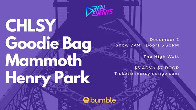 Mammoth, Henry Park, CHLSY, Goodie Bag
