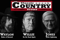 Classic Country Icons: Willie, Waylon, & George | SELLING OUT - BUY NOW!