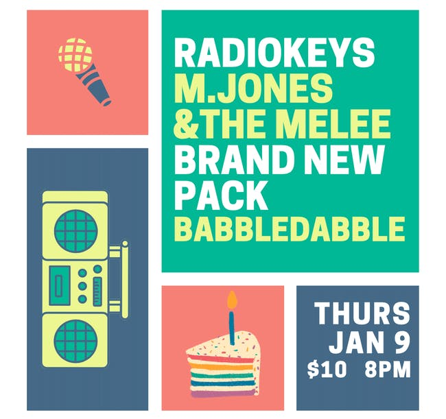 Radiokeys, M Jones & the Melee, Brand New Pack, Babble Dabble