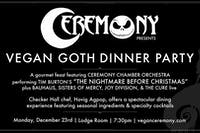 "Vegan Goth ""Nightmare Before Christmas"" Dinner Party"