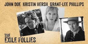 John Doe, Kristin Hersh, and Grant-Lee Phillips present The Exile Follies