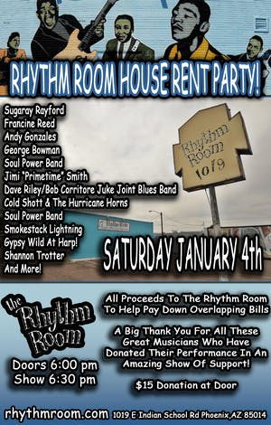RHYTHM ROOM HOUSE RENT PARTY