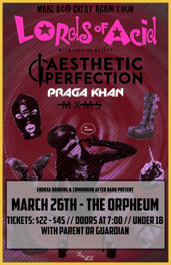 Lords of Acid, Aesthetic Perfection, Praga Khan (DJ Set) and MXMS in Tampa