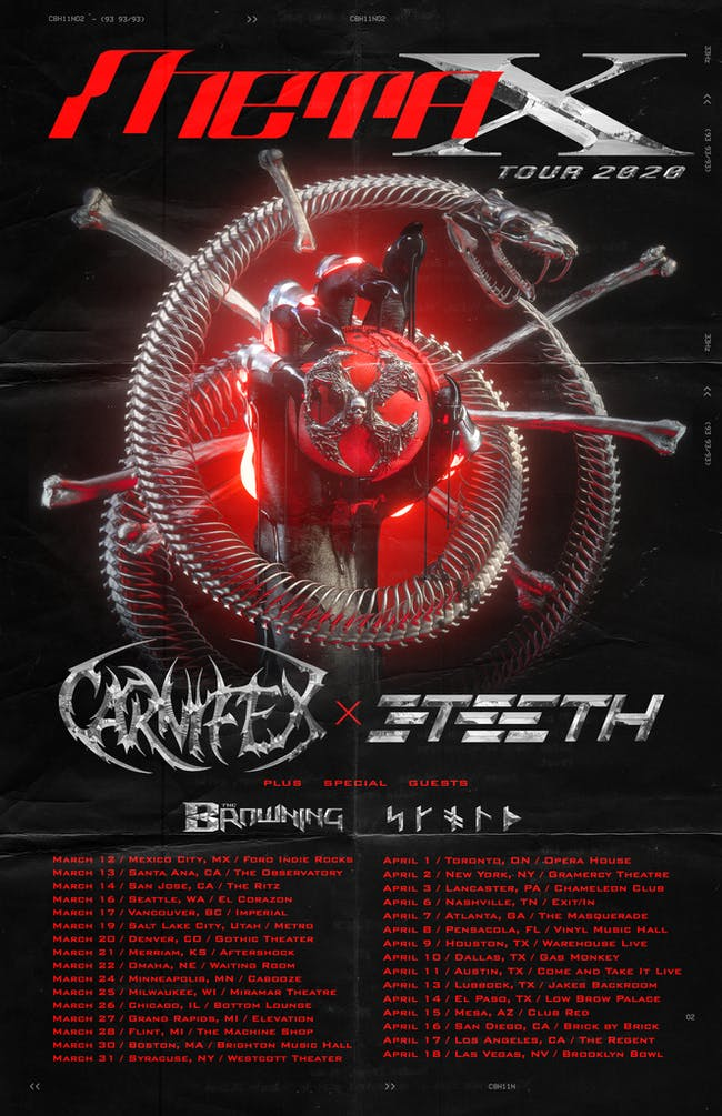 META X TOUR: Carnifex / 3Teeth at El Corazon