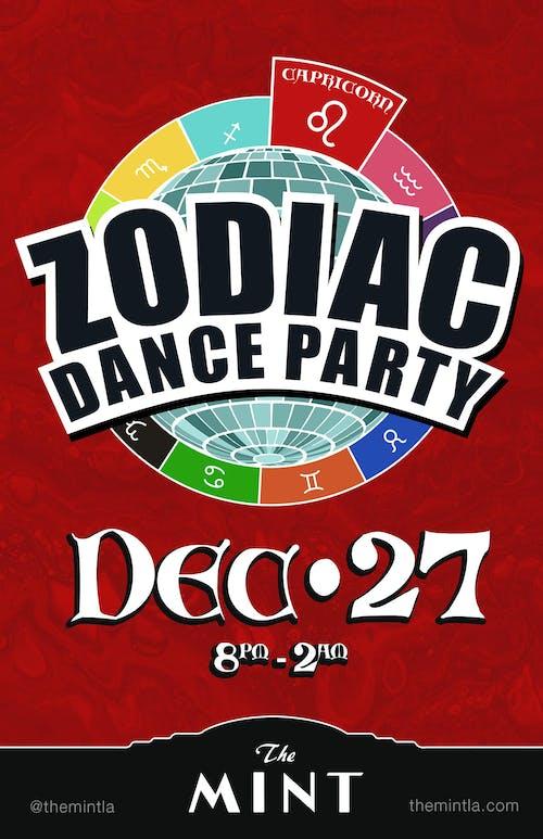 ZODIAC DANCE PARTY, CELEBRATING CAPRICORNS - wtih DJ Hot Tub Johnnie