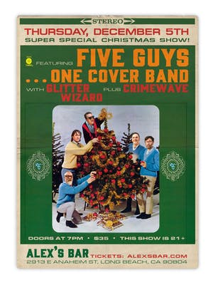 Five Guys... One Cover Band + Glitter Wizard + Crimewave