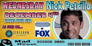 Nick Petrillo as seen on Laughs, Hulu, Fusion, Comedy Time and more!