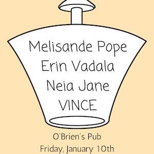 Vince, Neia Jane, Erin Vadala, Melisande Pope