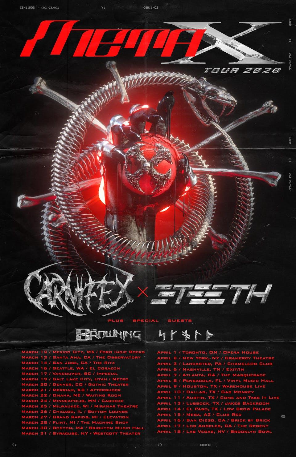 CANCELED: CARNIFEX / 3TEETH
