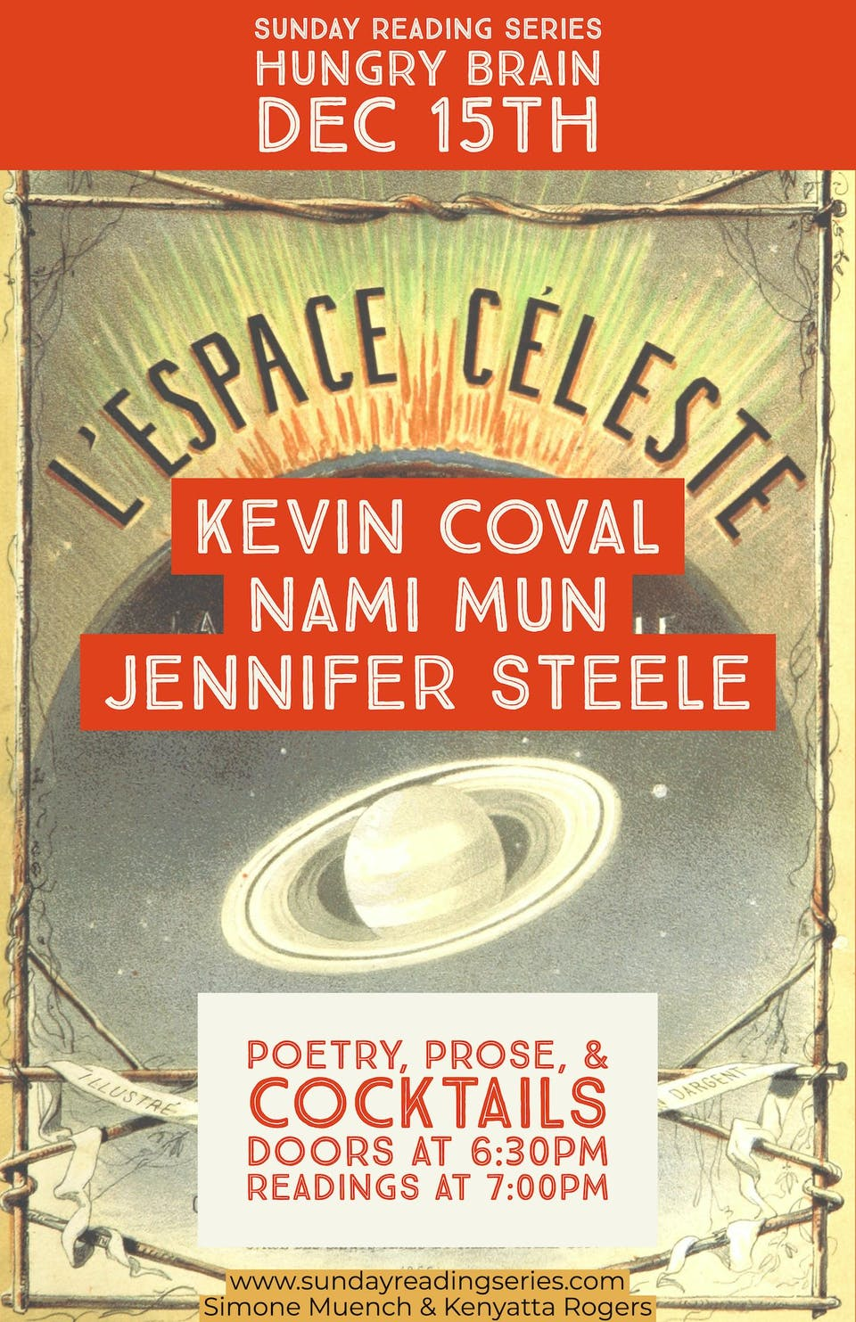 Sunday Reading Series: K. Coval, N. Mun, J. Steele