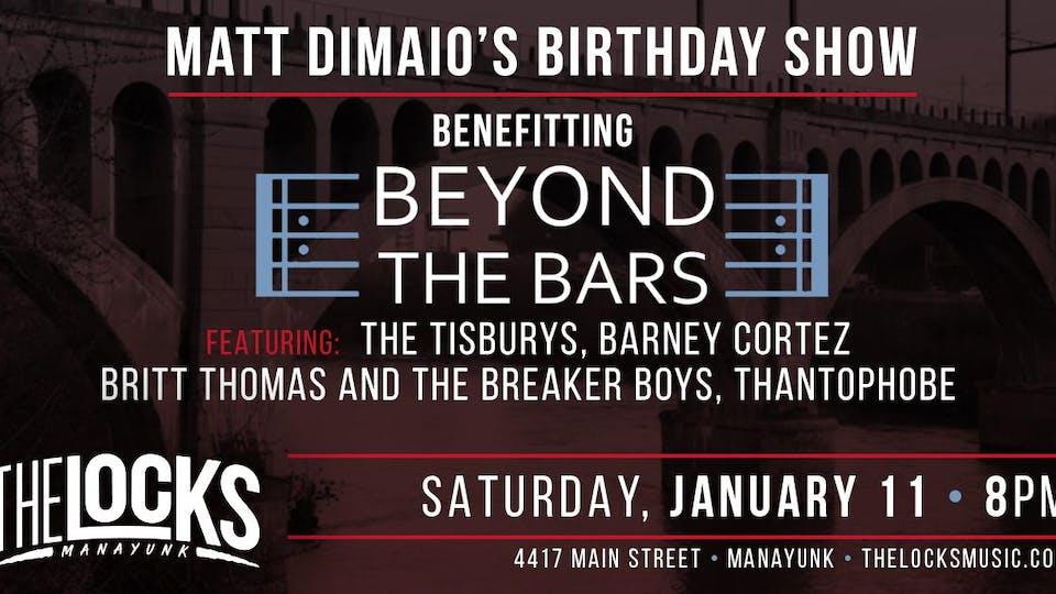 Matt DiMaio's Birthday Show Benefitting Beyond the Bars