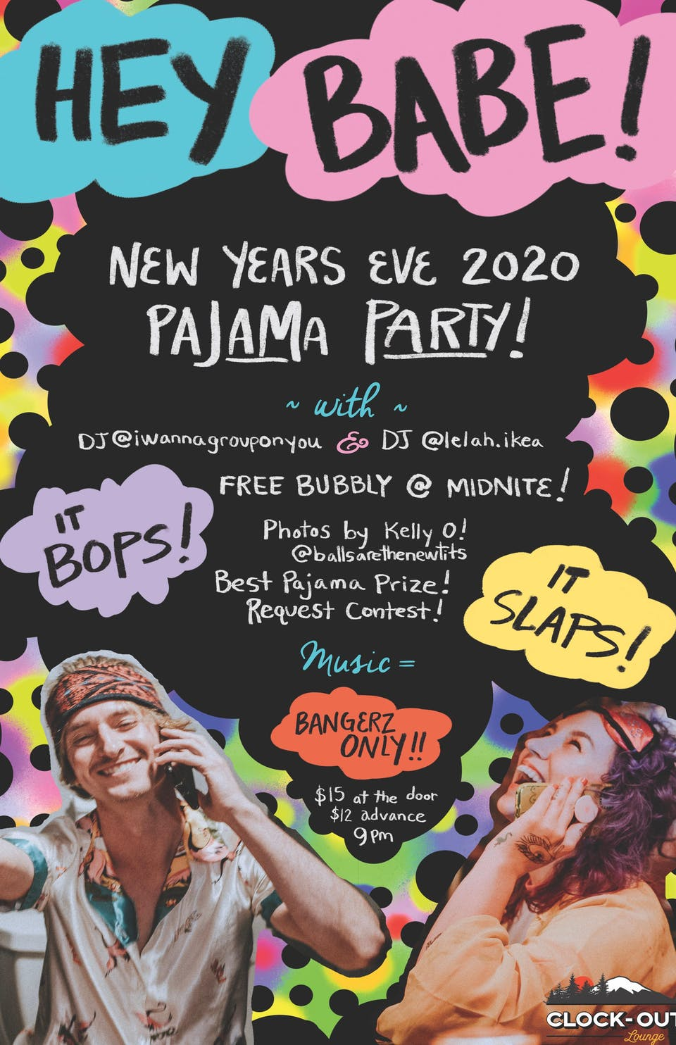 """Hey Babe"" New Years Eve Pajama Party"