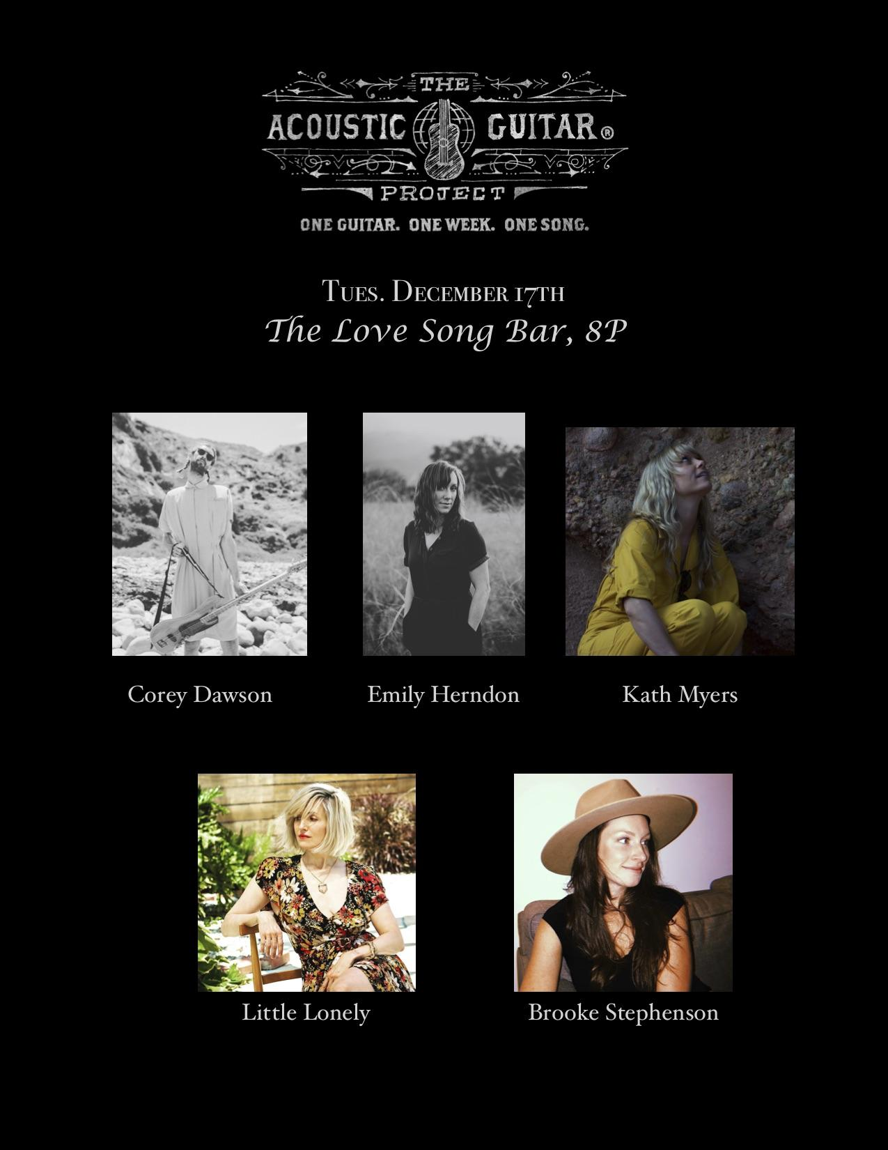 Acoustic Guitar Project with Brooke Stephens, Kat Myers and more!