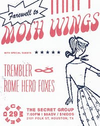 MOTH WINGS Farewell Show! with Trembler, Rome Hero Foxes
