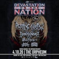 Devastation on the Nation tour w/ Rotting Christ, Borknagar, and more.