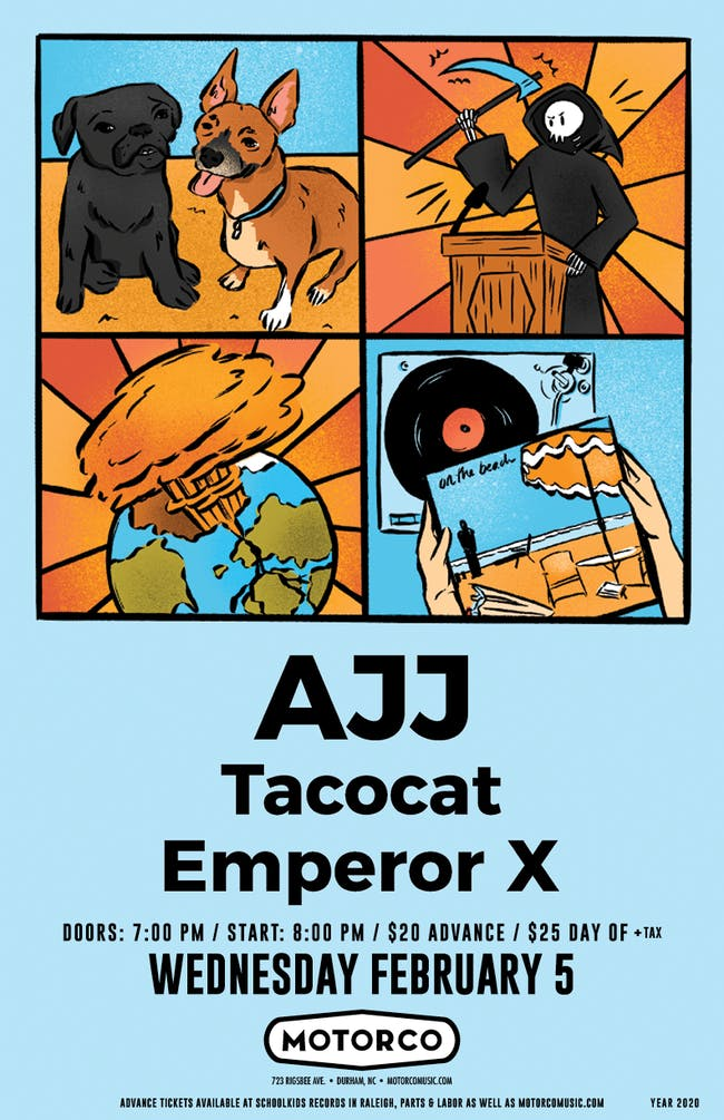 AJJ with Tacocat and Emperor X