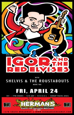 (postponed) IGOR & THE RED ELVISES w/ Shelvis & Roustabouts | A Bit Hazy