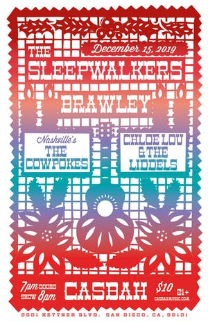 The Sleepwalkers, Brawley, The Cowpokes, Chloe Lou and the Liddells
