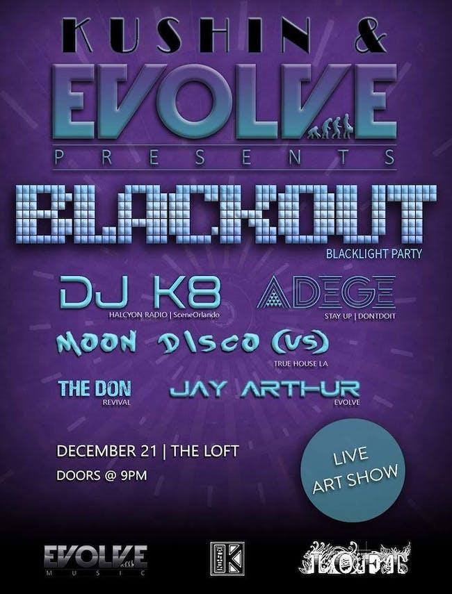 Blackout Blacklight Party