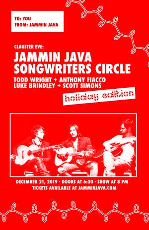 Clauster Eve: Jammin Java Songwriters Circle Holiday Edition