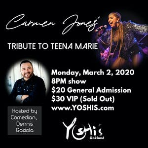 CARMEN JONES' ULTIMATE TRIBUTE TO TEENA MARIE