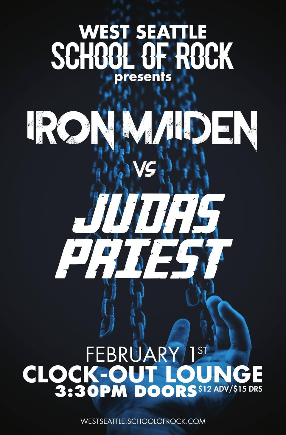West Seattle School of Rock performs Iron Maiden vs. Judas Priest