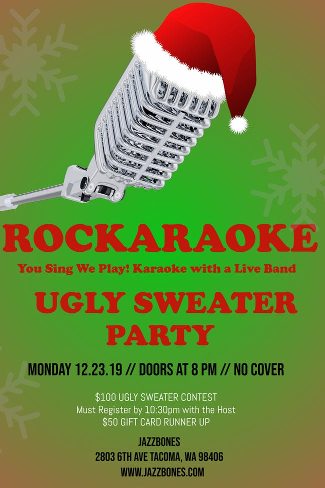 Rockaroake-Ugly Sweater Party