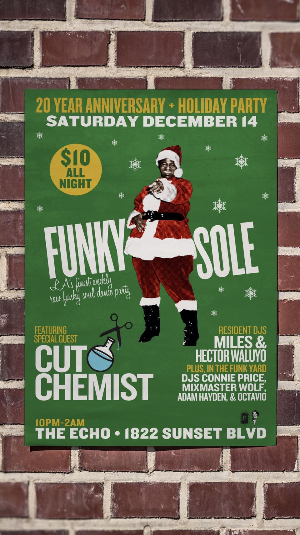 Funky Sole 20 Year Anniversary + Holiday Party with Cut Chemist