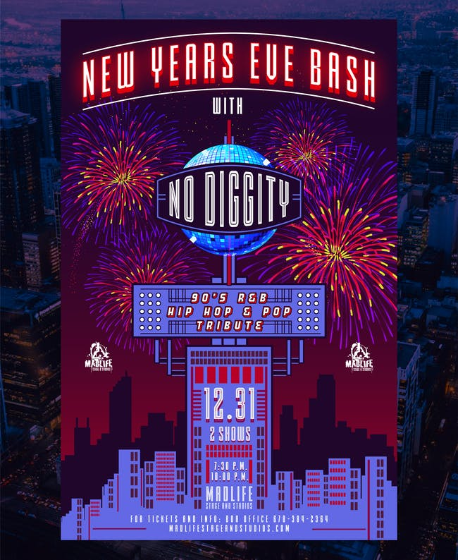 Late New Year's Eve Bash featuring No Diggity!  Final Tables Remaining!