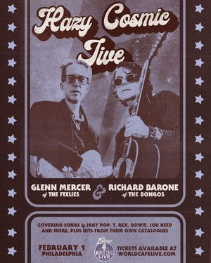 Hazy Cosmic Jive with Richard Barone & Glenn Mercer