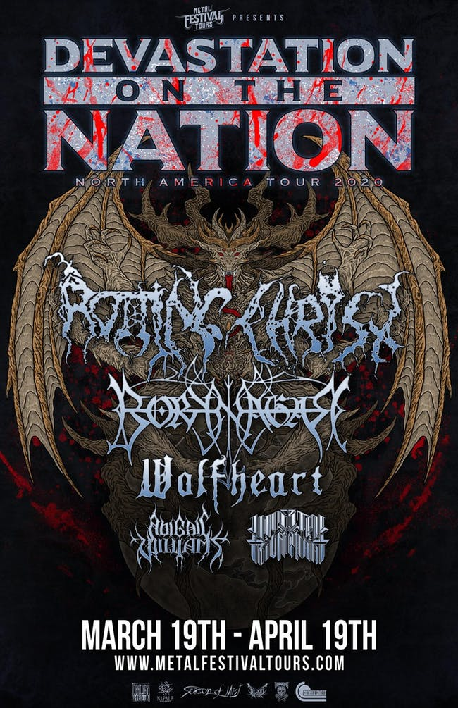 Devastation on the Nation Tour 2020 w/ Rotting Christ, Borknagar & more!