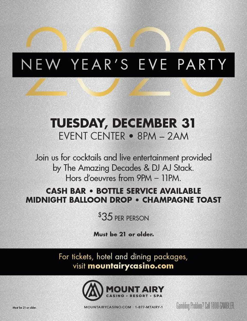 New Year's Eve 2019 Entertainment
