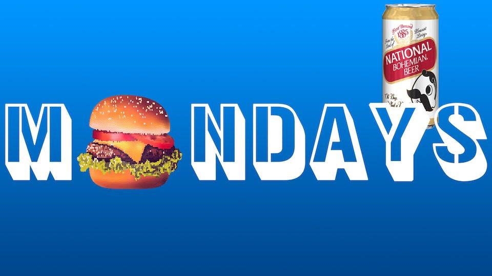 Burgers & Boh :: Mondays :: $1 Natty Boh