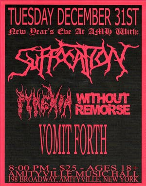 NYE with Suffocation