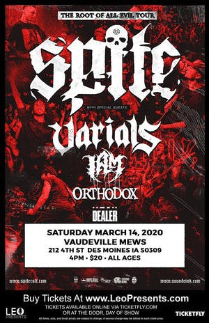 Spite - THE ROOT OF ALL EVIL TOUR