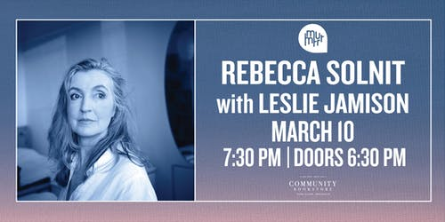 Rebecca Solnit in conversation with Leslie Jamison