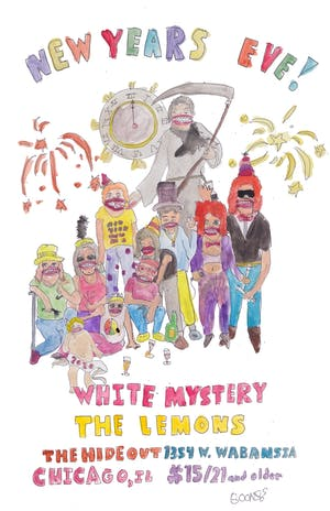 NYE at the Hideout: White Mystery & The Lemons