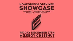 HomeGrown Open Mic Showcase