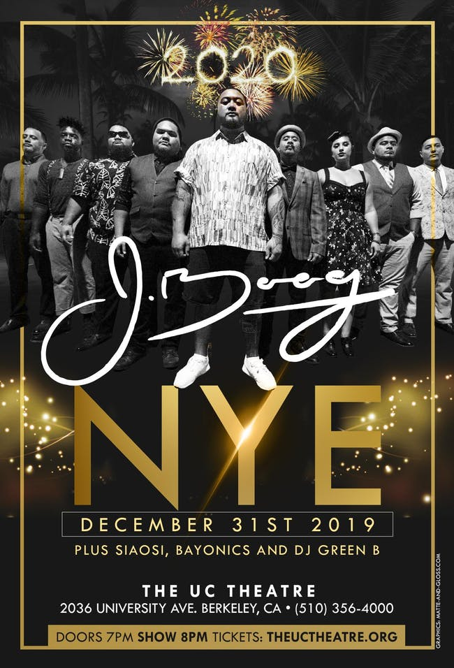 J Boog New Years Eve Reggae Celebration