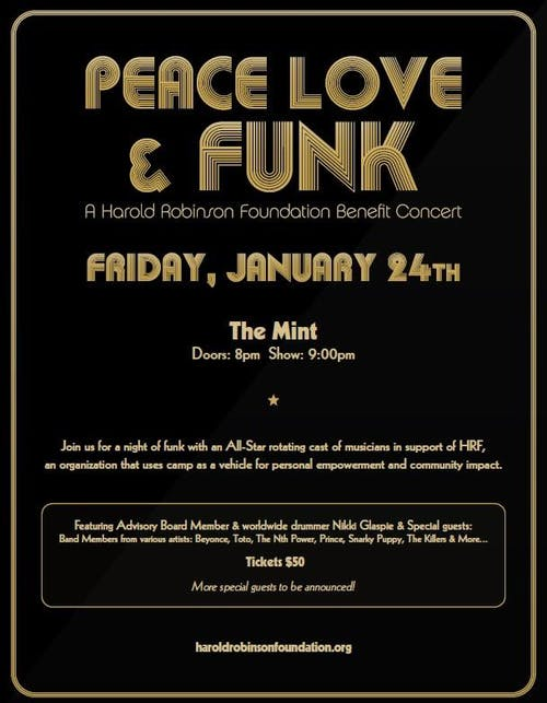 PEACE LOVE & FUNK with Nikki Glaspie, The Nth Power & Special Guests!