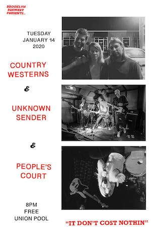 Country Westerns • Unknown Sender • People's Court