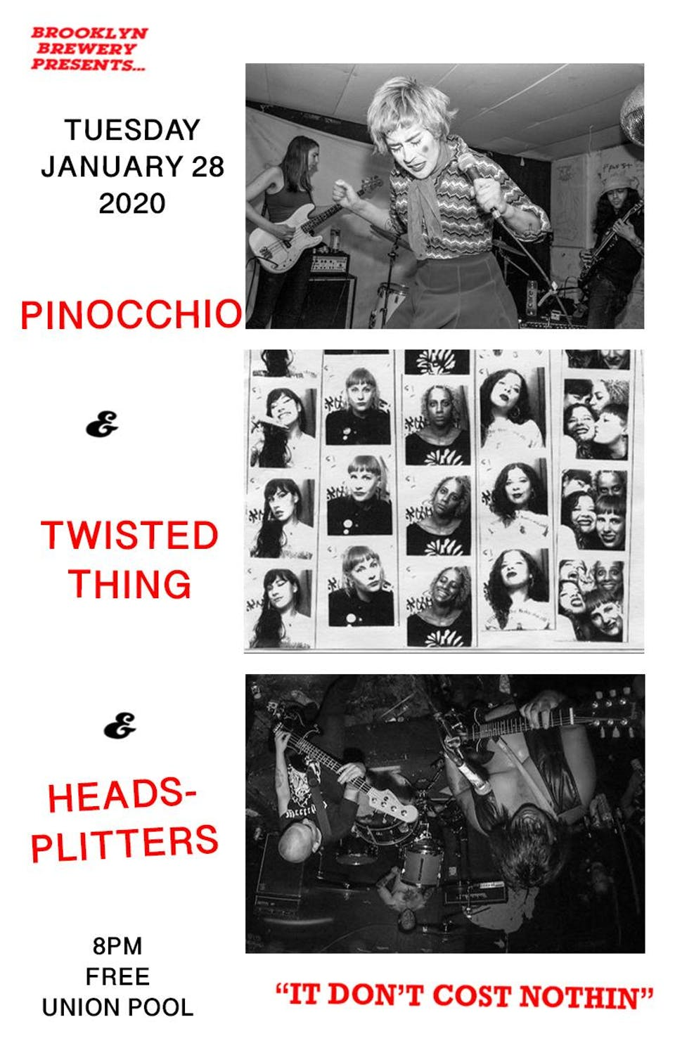 Pinocchio • Twisted Thing • Headsplitters