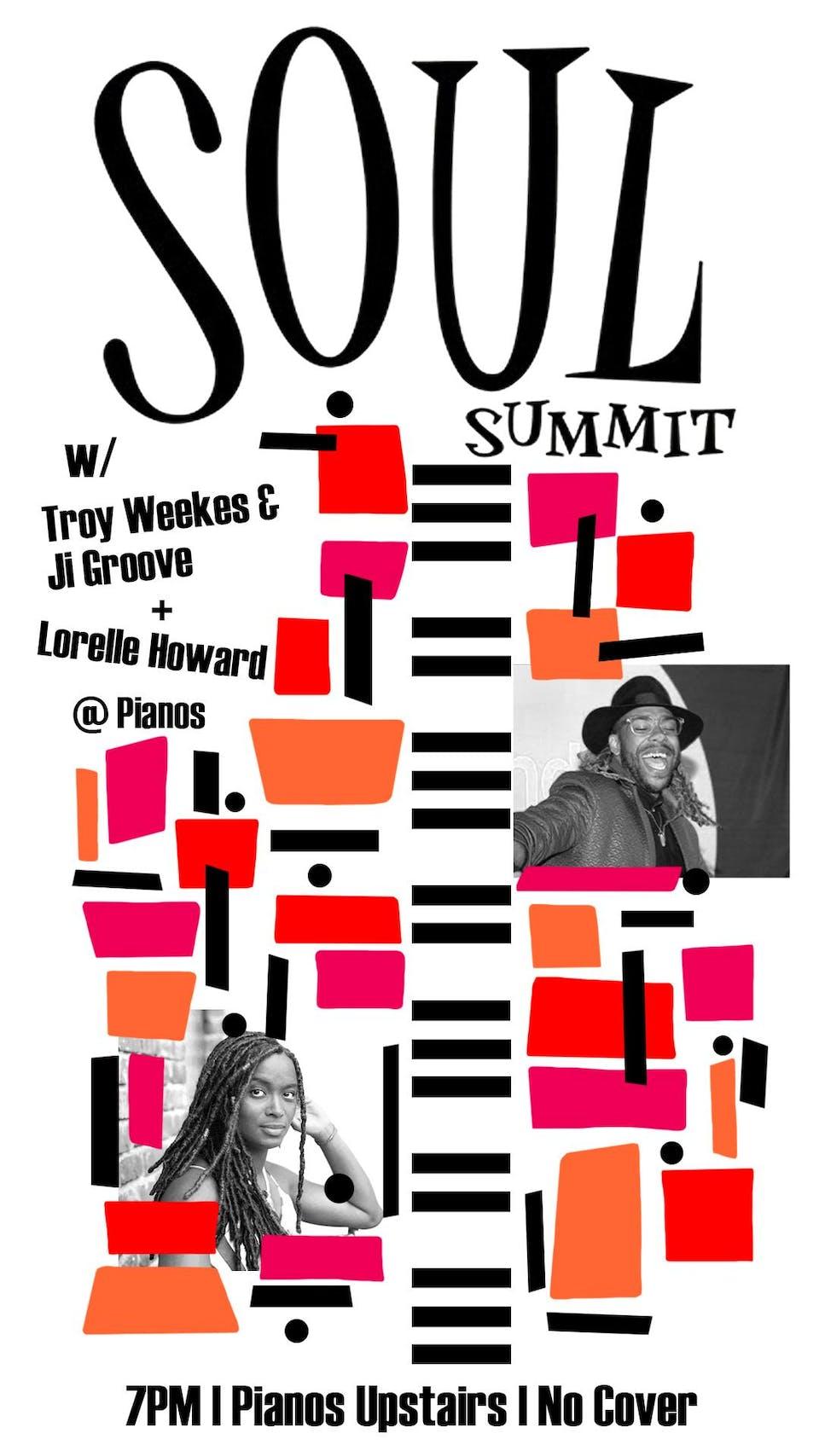 SOUL NIGHT W/ Troy Weekes & Ji-Groove, Lorelle Howard